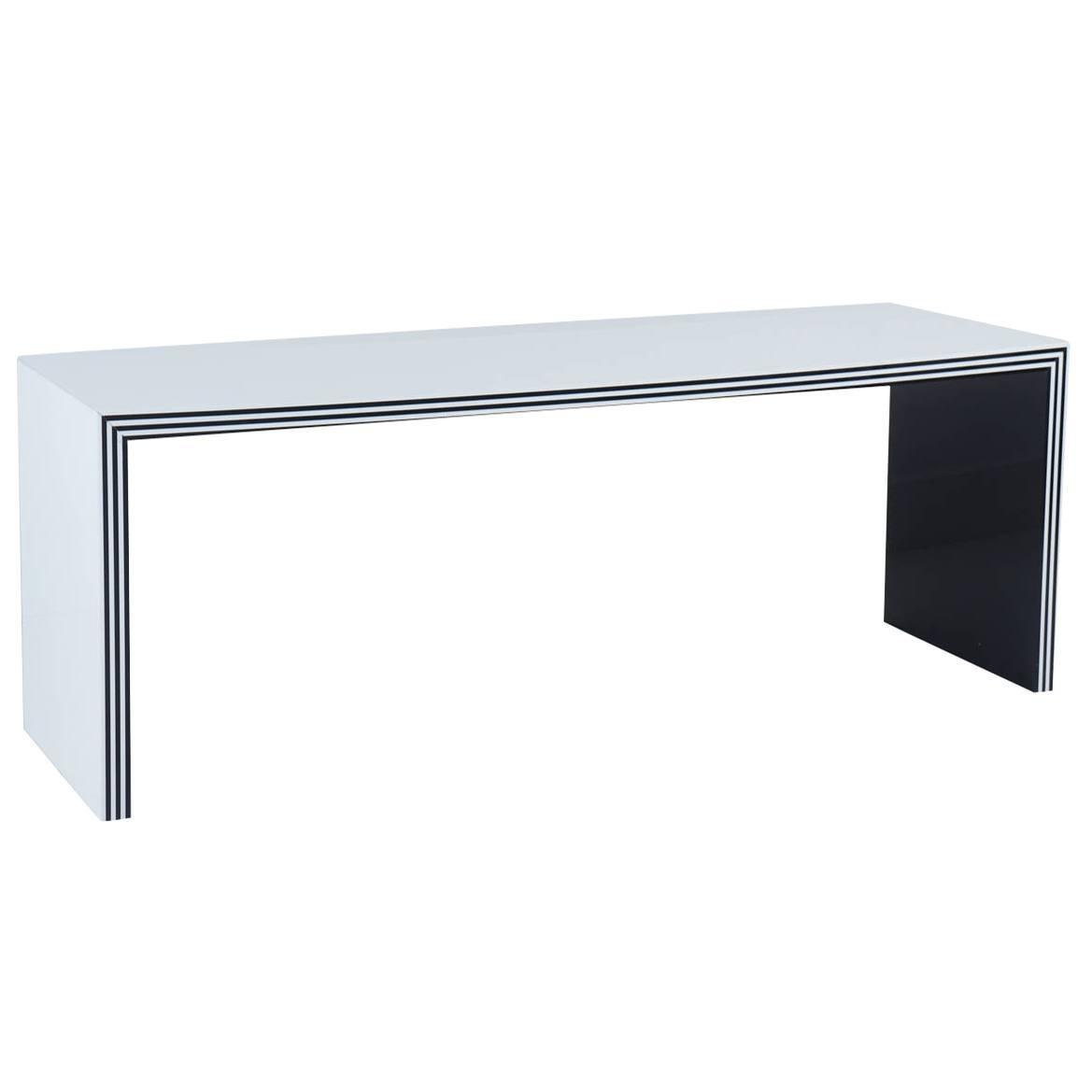 Custom Black And White Acrylic Bench At 1stdibs