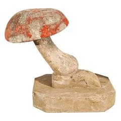 Large French Cast Stone Toadstool