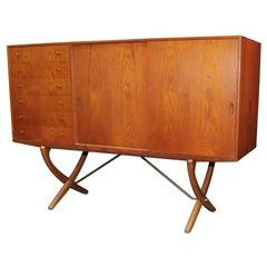 Saber Leg Highboard by Hans Wegner