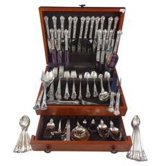 Chantilly by Gorham Sterling Silver Dinner Flatware Set for 18, 165 Pieces