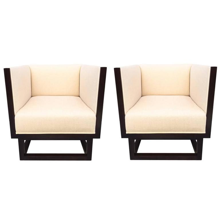 Pair of Cube Lounge Chairs by Josef Hoffmann 1