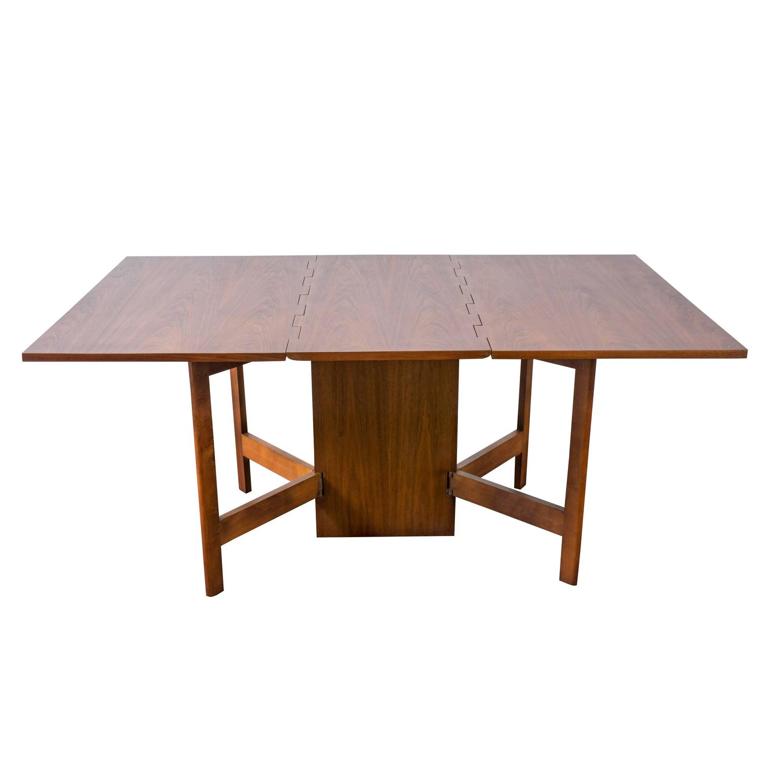 Vintage gateleg dining table by george nelson for herman for Gateleg dining table