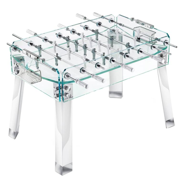 Contropiede Crystal Foosball table by Teckell in White