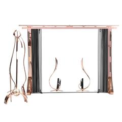 Modernist Fireplace Set by Leslie Beaton for Revere