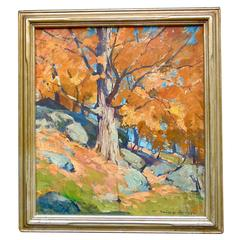 """Oil Painting of """"Autumn Scene"""" by Emile Gruppe"""