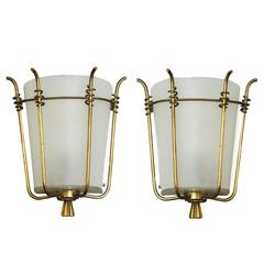 Marius-Ernest Sabino Pair of Sconces