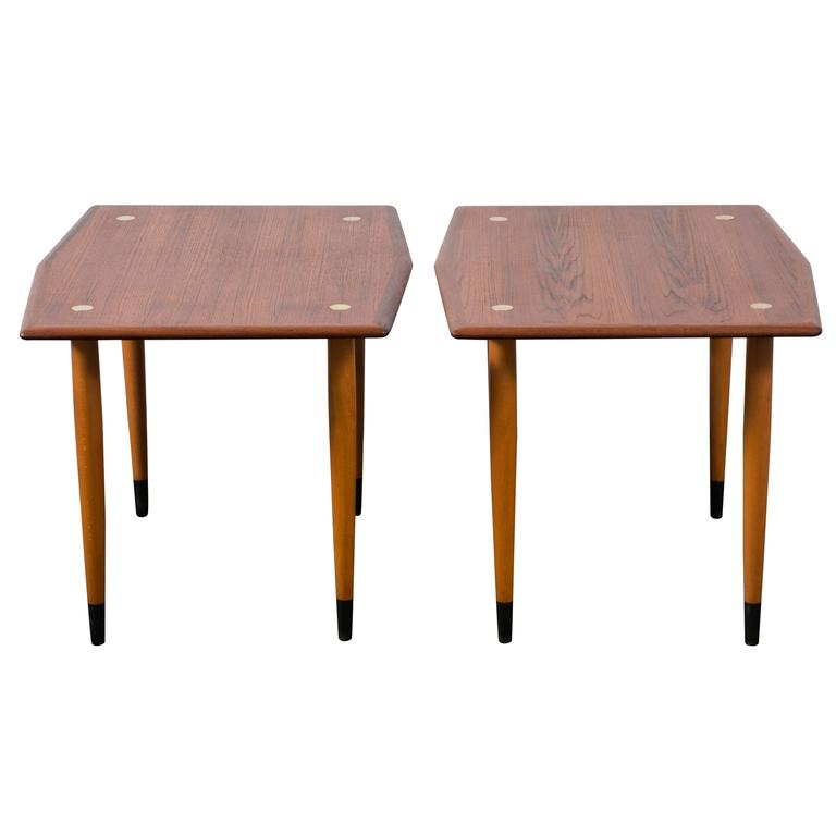 Pair of Vintage Side Tables by DUX at 1stdibs