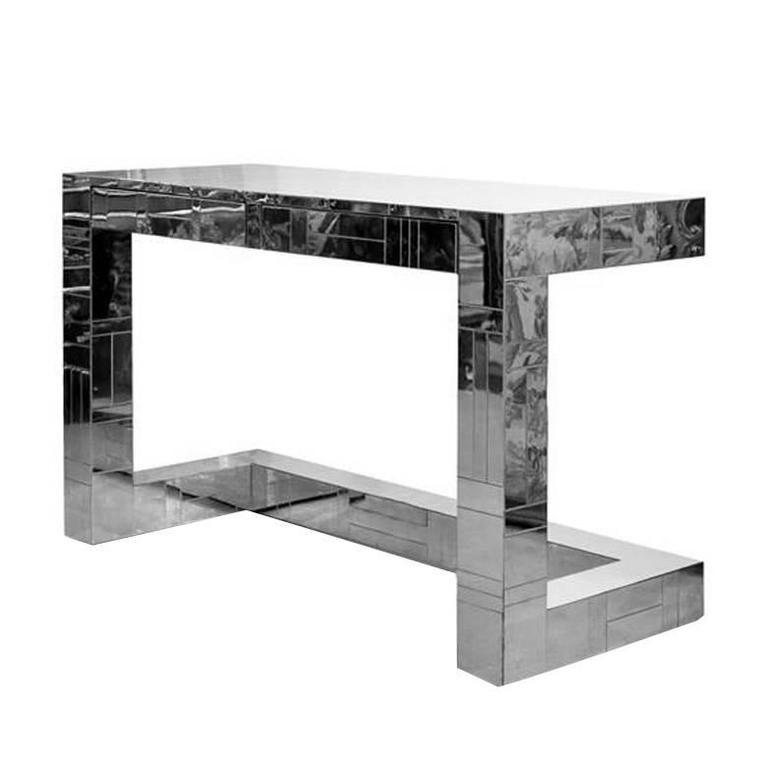 Chrome Cityscape Desk by Paul Evans