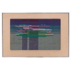 """1970s Weaving by Nancy Lyon Called """"Monet's Pond"""""""