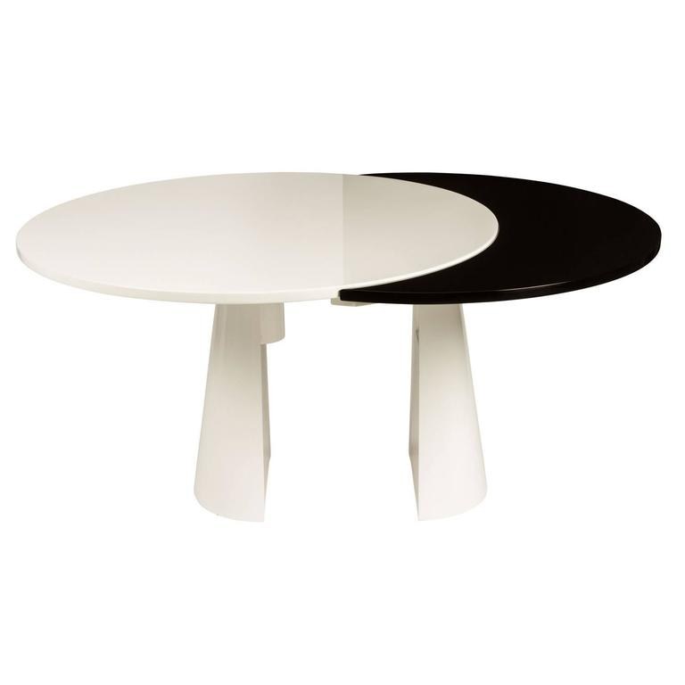 Unusual Lacquered Italian Dining Table with Pullout Top at  : DANL3862orgl from www.1stdibs.com size 768 x 768 jpeg 10kB