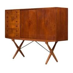 Rare Sideboard Designed by Hans Wegner and Produced by Andreas Tuck in Denmark