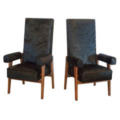 Pair of Pierre Jeanneret & Le Corbusier 'Judges' Chairs, France/India, 1955
