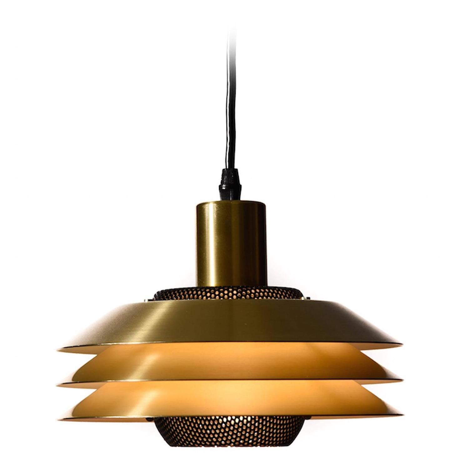 danish modern three tiered pendant light at 1stdibs