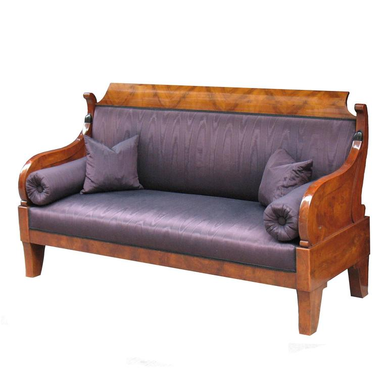 Exemplary russian biedermeier sofa or settee at 1stdibs Biedermeier sofa
