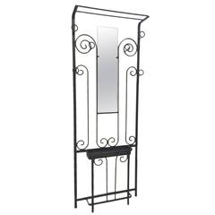 French Art Deco Wrought Iron Hall Tree