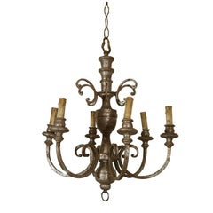 Classical Swedish Silver Leaf Wooden Chandelier