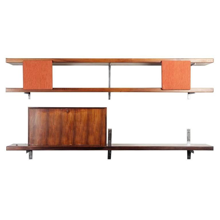Brazilian Modern George Nelson Wall Mounted Shelves by