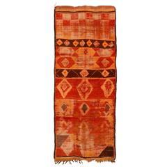 Ancient Rehamna Berber Carpet