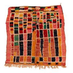 Vintage Abstract Boujad Berber Rug