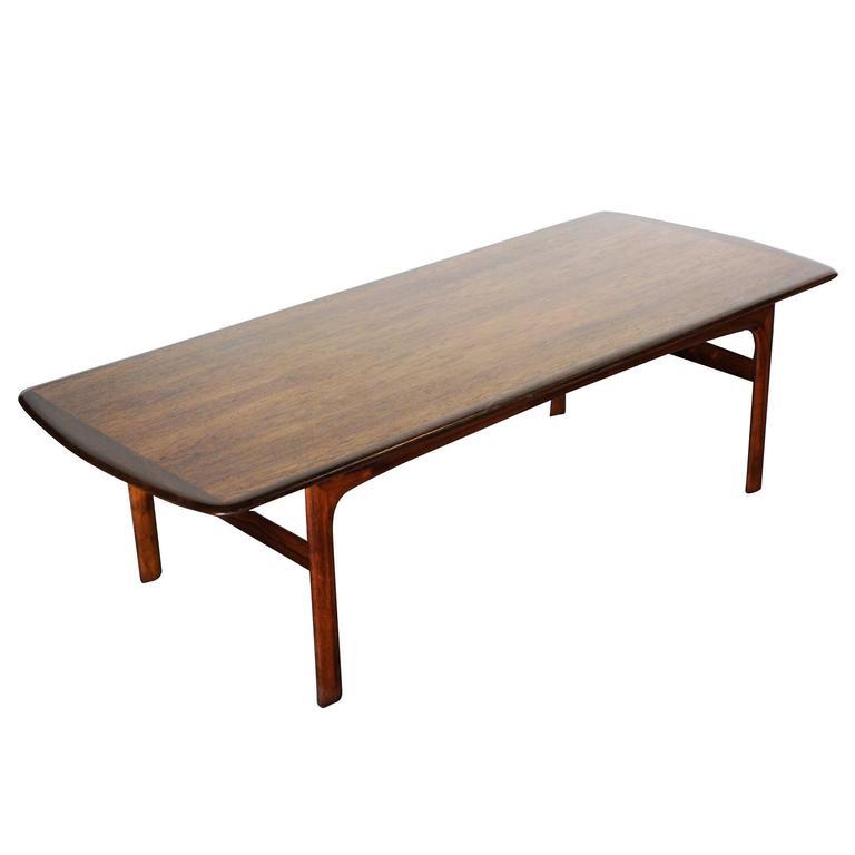 Large Teak Danish Modern Coffee Table