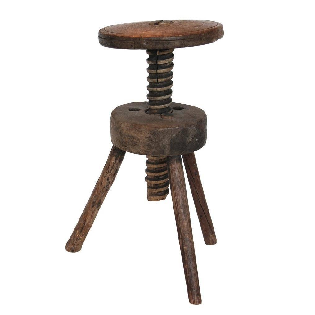 Exceptional Vintage Adjustable Artist Stool At 1stdibs