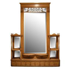 Large Oak American Pier Mirror
