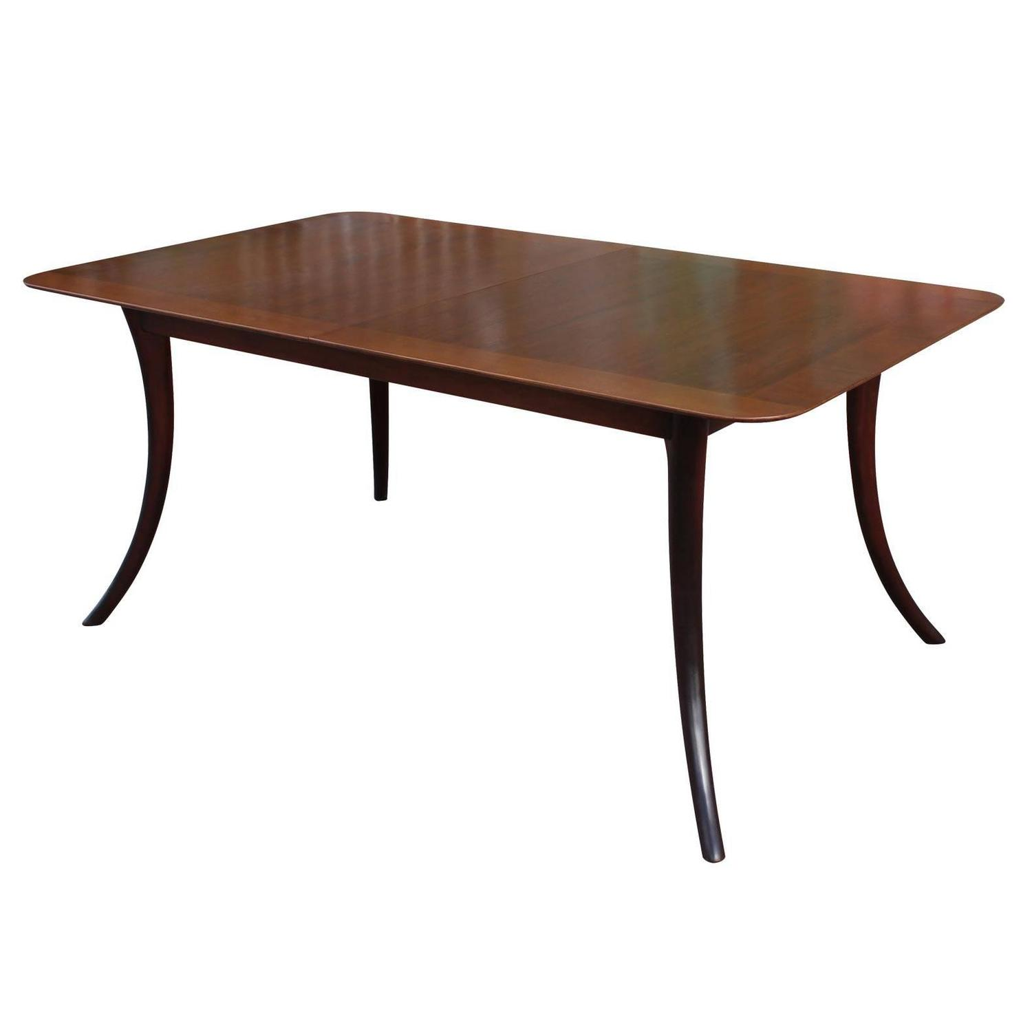 t h robsjohn gibbings saber leg dining table for