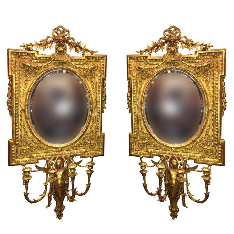 Meissen Porcelain Antique Mirror With Candleholders At 1stdibs