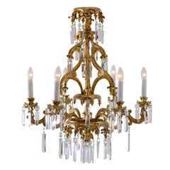 Original Historistic Chandelier in Laxenburger Gothic Style 19th Century