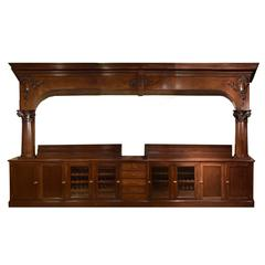 Massive Arch Topped Back Bar