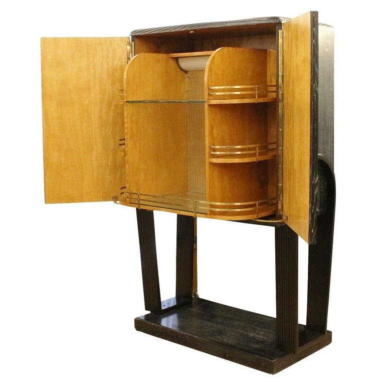 Italian, 1940s Cerused Oak Dry Bar