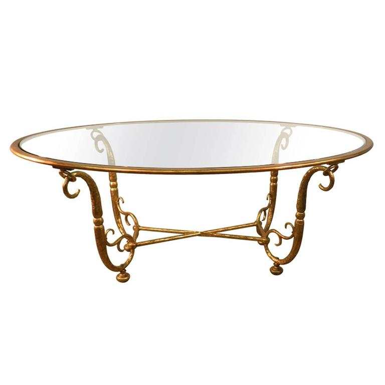 italian work large golden iron and glass dining room