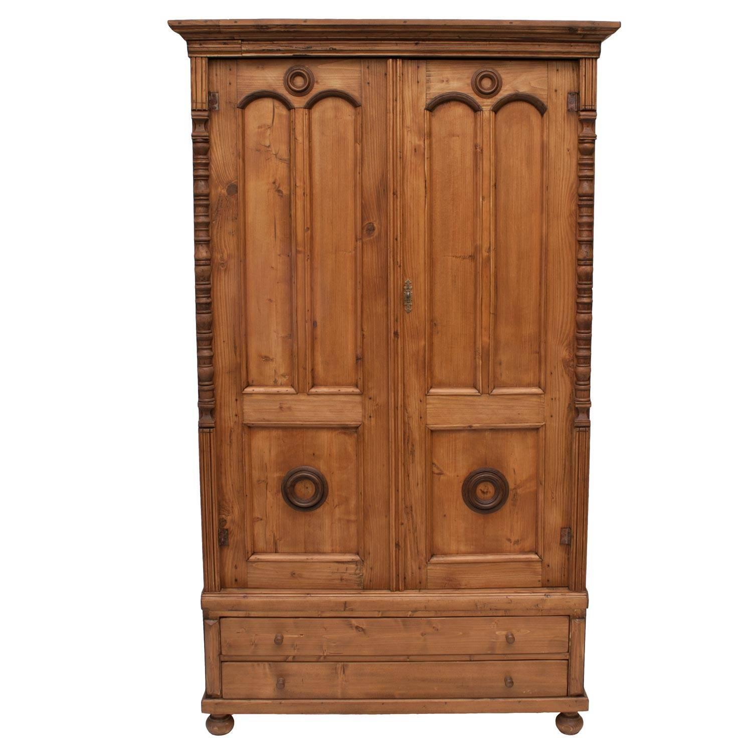 pine armoire for sale at 1stdibs. Black Bedroom Furniture Sets. Home Design Ideas