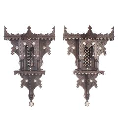 Rare Pair of Moroccan or Syrian Wall Brackets