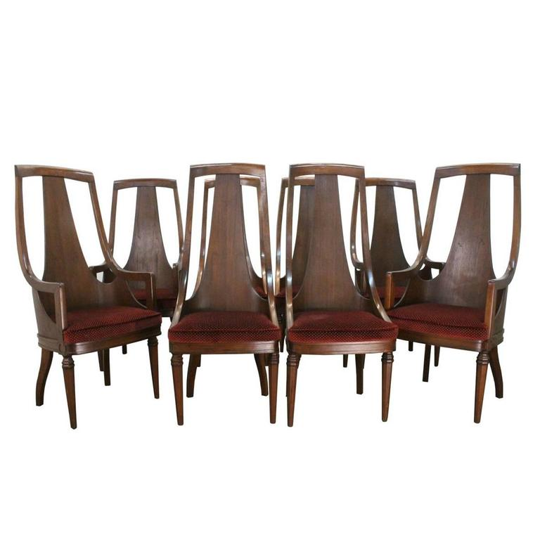 high back mid century walnut dining chairs is no longer available
