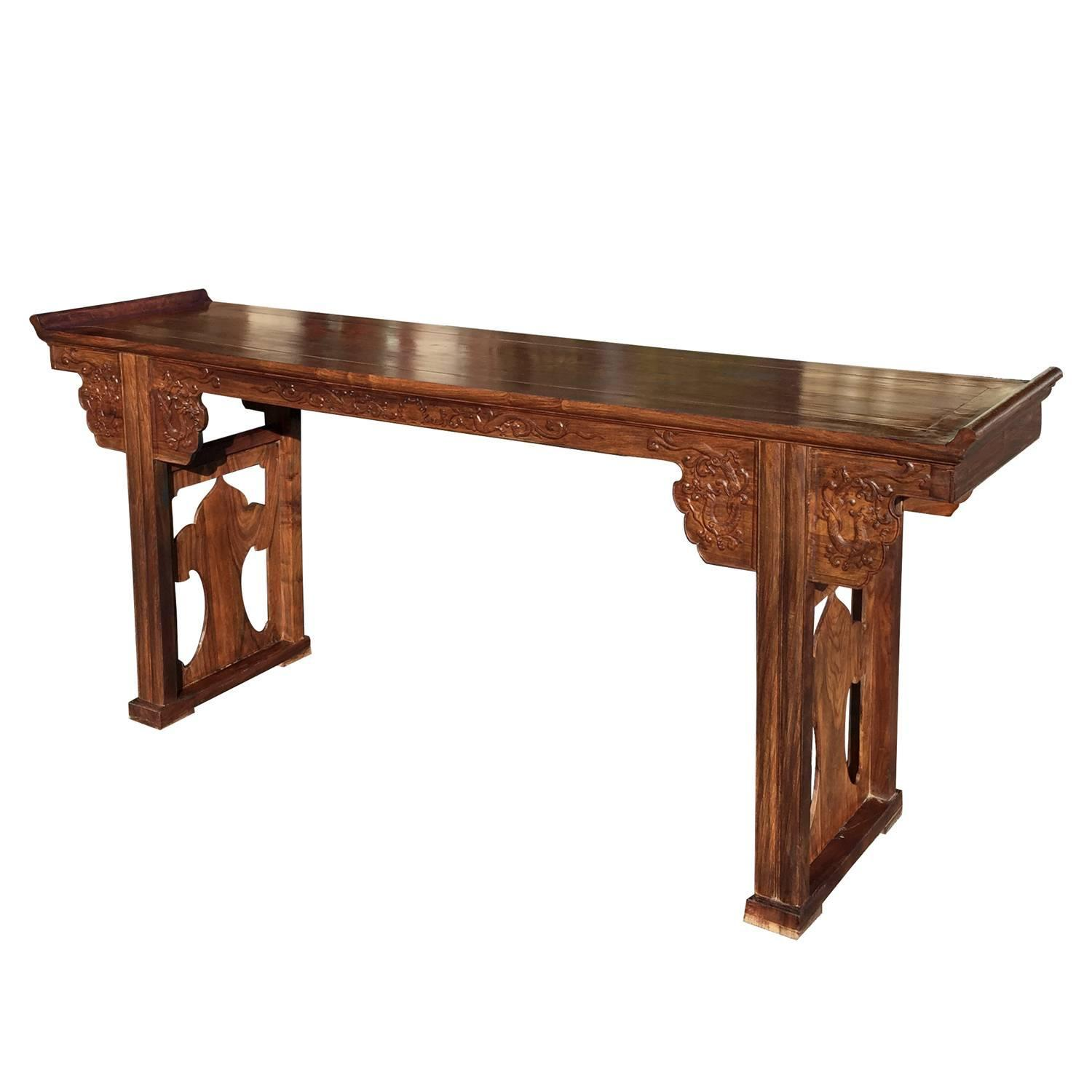 Family Altars For Sale: Fine Chinese Huanghuali Wood Altar Table For Sale At 1stdibs