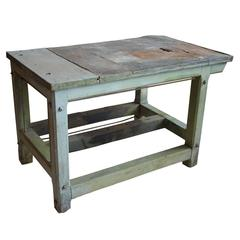 Vintage French Zinc Top Work Table