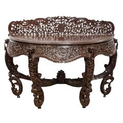 Anglo-Indian or British colonial Rosewood Console Table