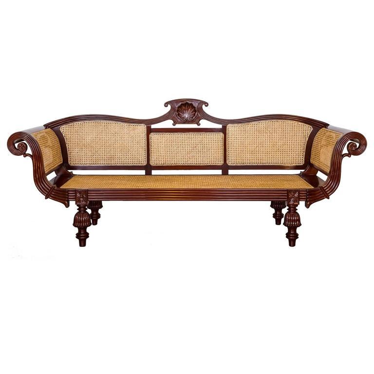 Anglo Indian Or British Colonial Mahogany Sofa At 1stdibs