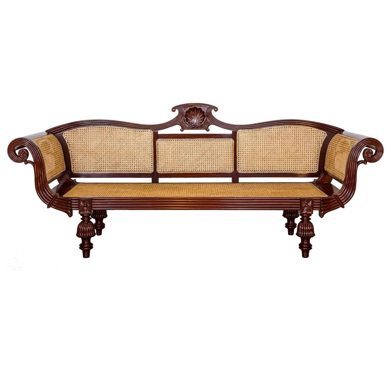 Anglo Indian Or British Colonial Mahogany Sofa At 1stdibs