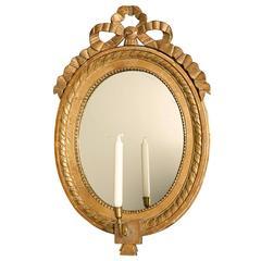 Swedish Oval Giltwood Mirror, circa 1800