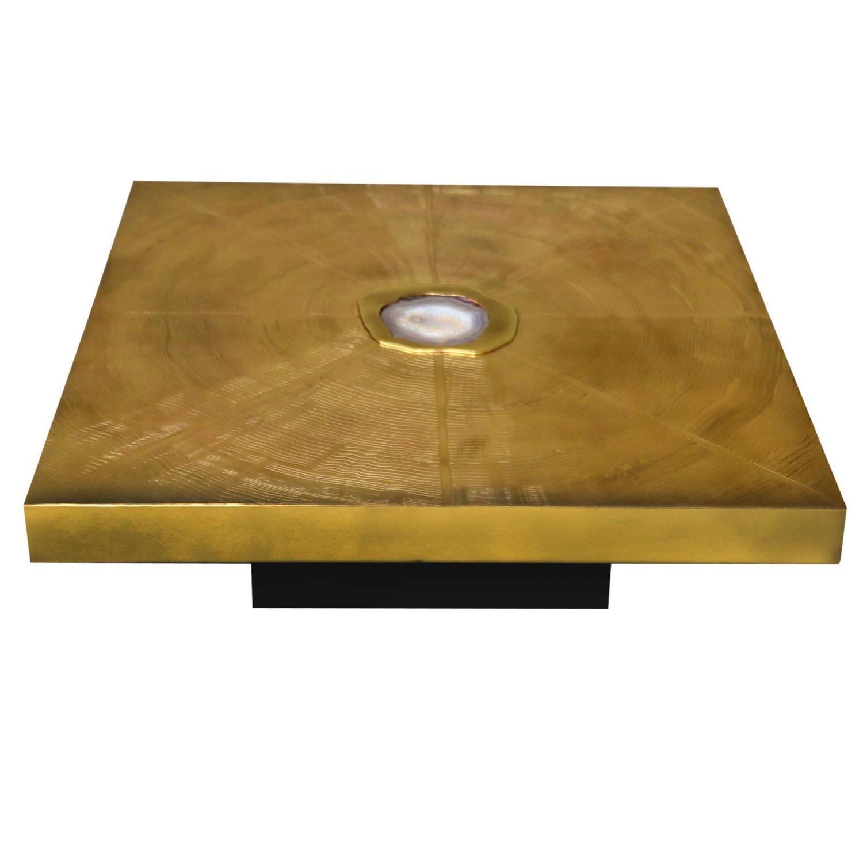 Agate Coffee Table Free Shape Aluminium And