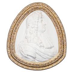 Fine Marble Relief Portrait of Louis XIV