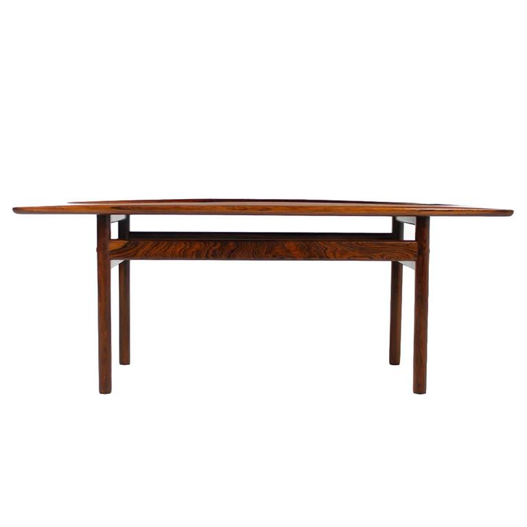 1960s Grete Jalk Rosewood Coffee Table PJ Poul Jeppesen Danish Modern