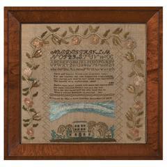 Cambridge, Massachusetts Sampler Dated 1824