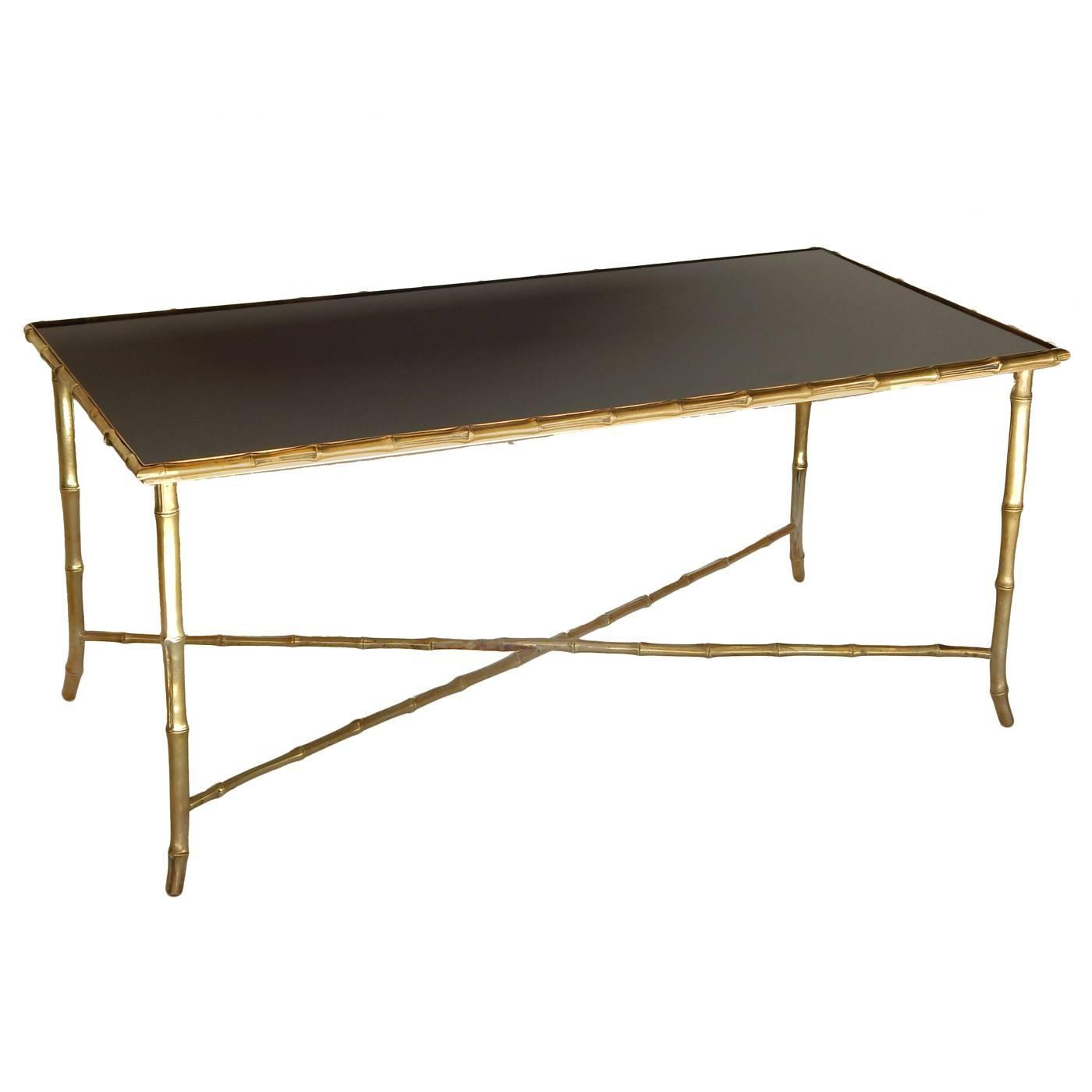 Brass Bagues Style Faux Bamboo Coffee Table For Sale At 1stdibs