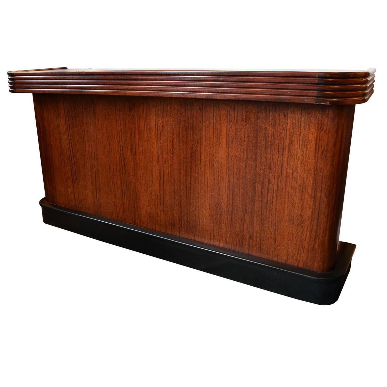 mahogany art deco bar at 1stdibs