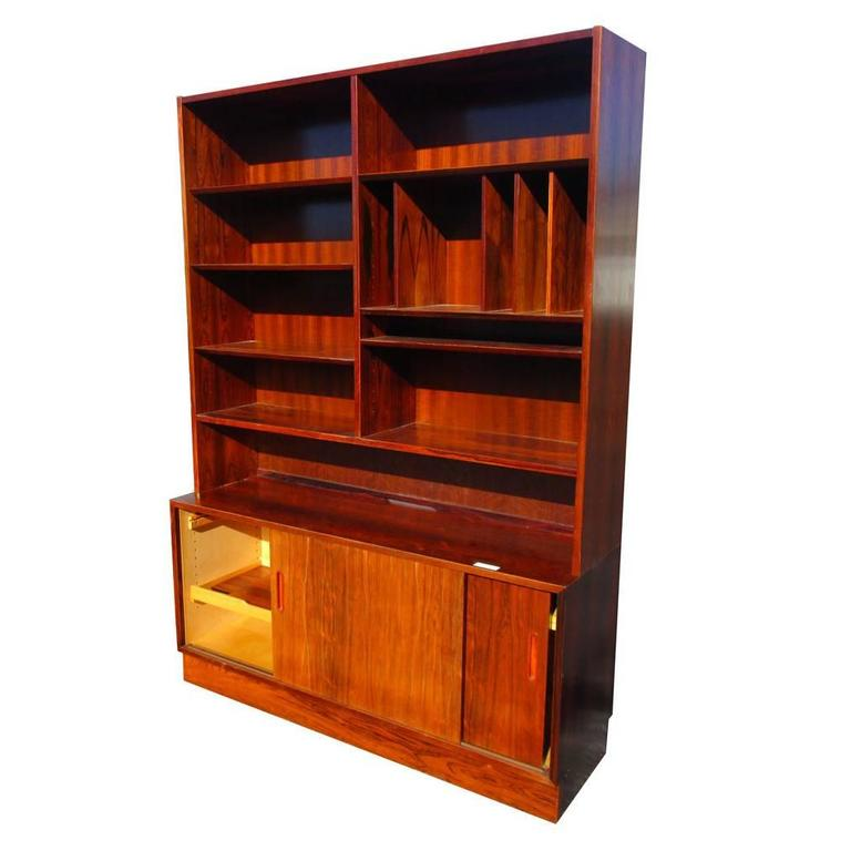 Vintage Danish Rosewood bookcase wall unit by Poul Hundevad