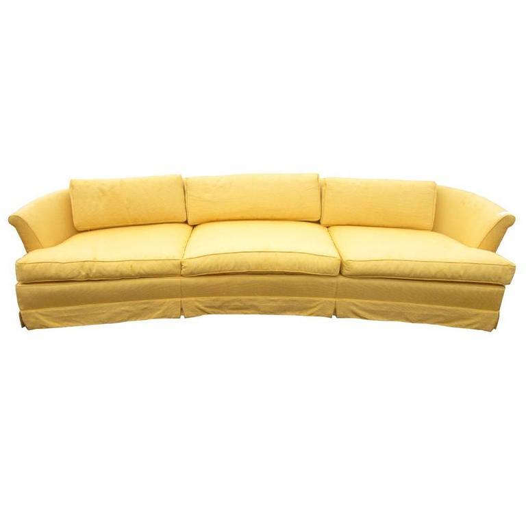 Vintage Midcentury Wormley Probber Widdicomb Style Curved Sofa