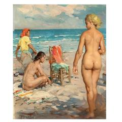 Painting  Spanish Beach Oil Painting